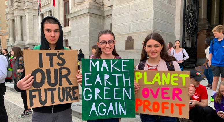 Philly-area students join global wave of climate change protests 1