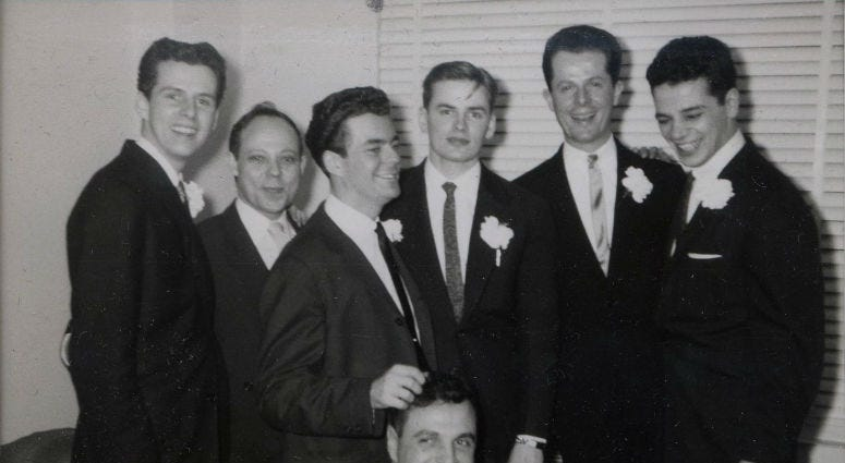 On both coasts, a search for 2 men photographed on their wedding day in 1950s