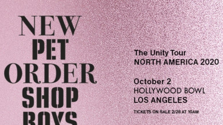 The Unity Tour: New Order and Pet Shop Boys
