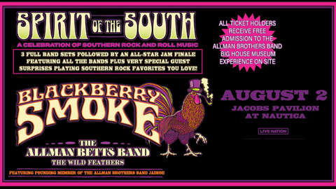 Rescheduled: Blackberry Smoke: Spirit of The South Tour
