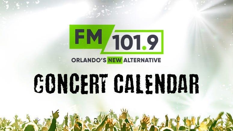 FM 101.9 Concert Calendar