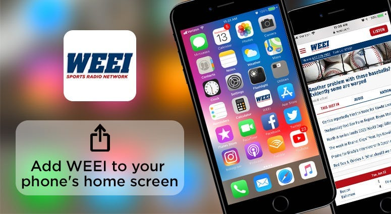 Add WEEI to your home screen